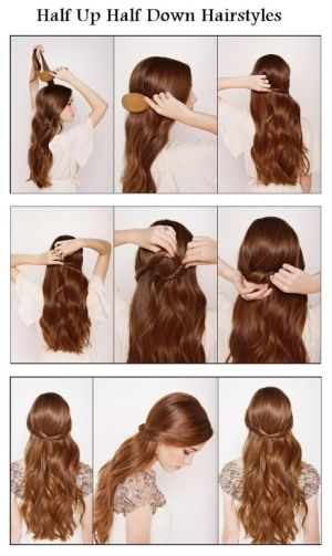 Make A Half Up Half Down For Your Hair   hairstyles tutorial by Hairstyle Tutorials