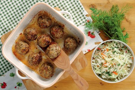 Πρασοκεφτέδες φούρνου με γιαούρτι - Συνταγές   γαστρονόμος
