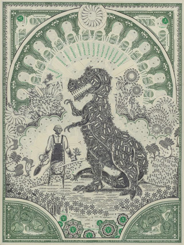 The Art of the Dollar : Mark Wagner : via Colossal | Dollar ReDe$ign Project