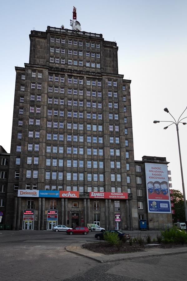 An old (TVP) skyscraper, Lodz, Poland