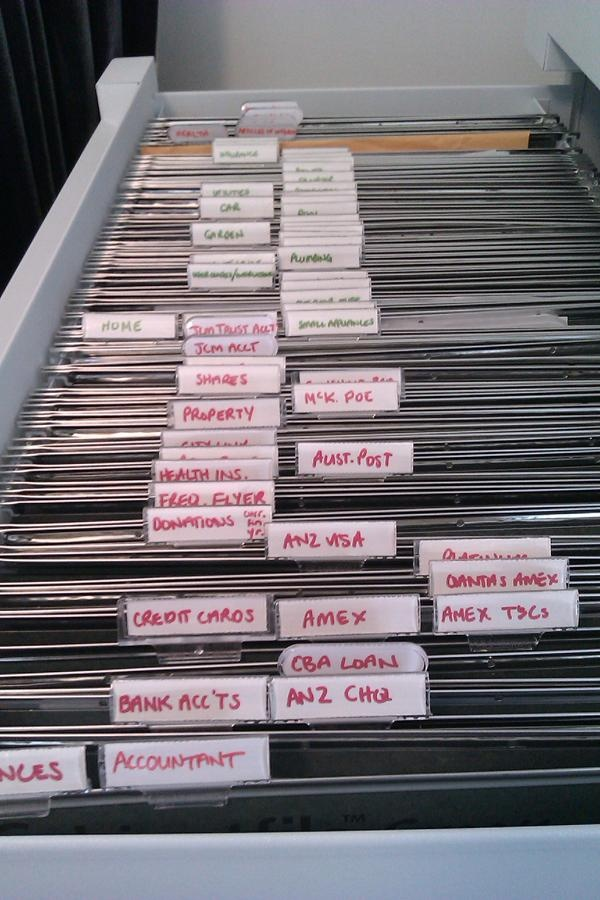 Easy Filing System But With Typed Labels Organizing
