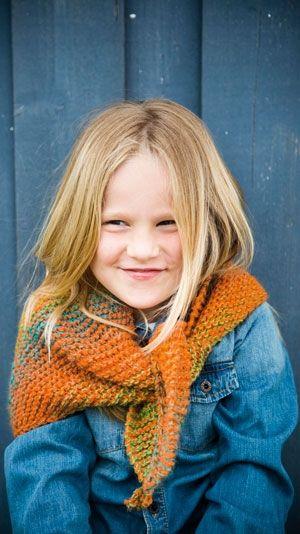 Strikkeopskrift på fint tørklæde til børn