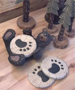 Black Bear Paw Coasters