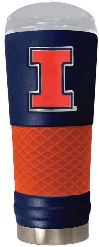 """Illinois Fighting Illini """"the Draft"""" 24 oz Vacuum Insulated Team Color Stainless Steel Beverage Cup"""