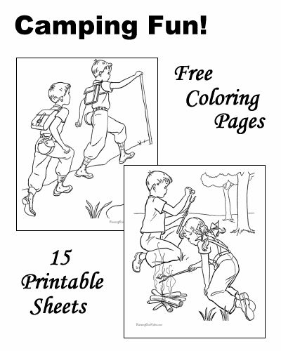 101 best camp out with a good book images on pinterest for Camping coloring pages for preschoolers