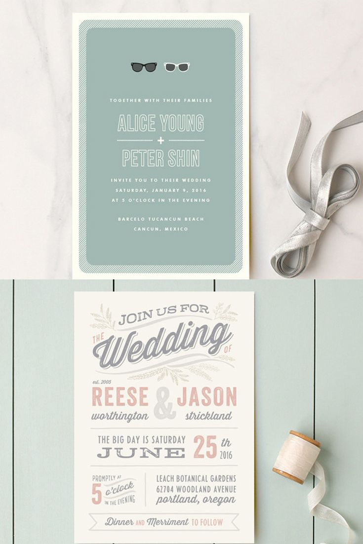 Best 25 Unique wedding invitation wording ideas on Pinterest