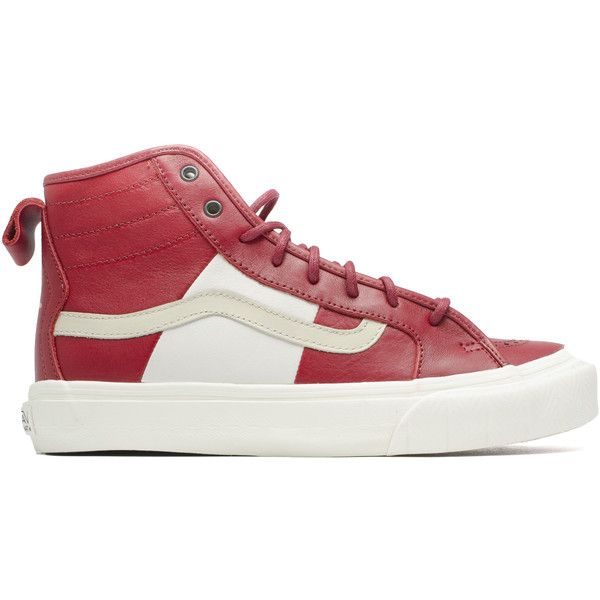 Vans Th Court Hi Lx ($160) ❤ liked on Polyvore featuring men's fashion,.  Mens Red ShoesMens Leather ...