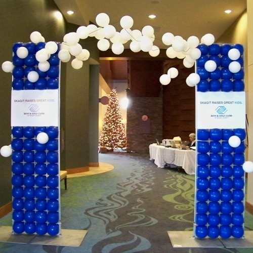 17 best images about balloon arches on pinterest arches for Balloon decoration for corporate events