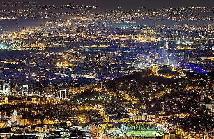 Budapest | Night Panorama. credit: Rizsavi Tamás. view on Fb https://www.facebook.com/BudapestPocketGuide #budapest #hungary #MyBudapest #travel