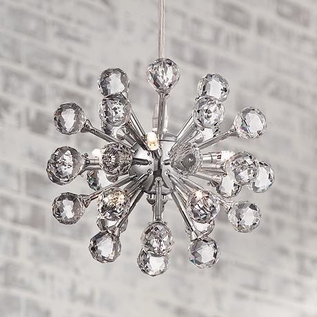 Possini Euro Design Cassiopeia 8 1 2W Crystal Mini Pendant