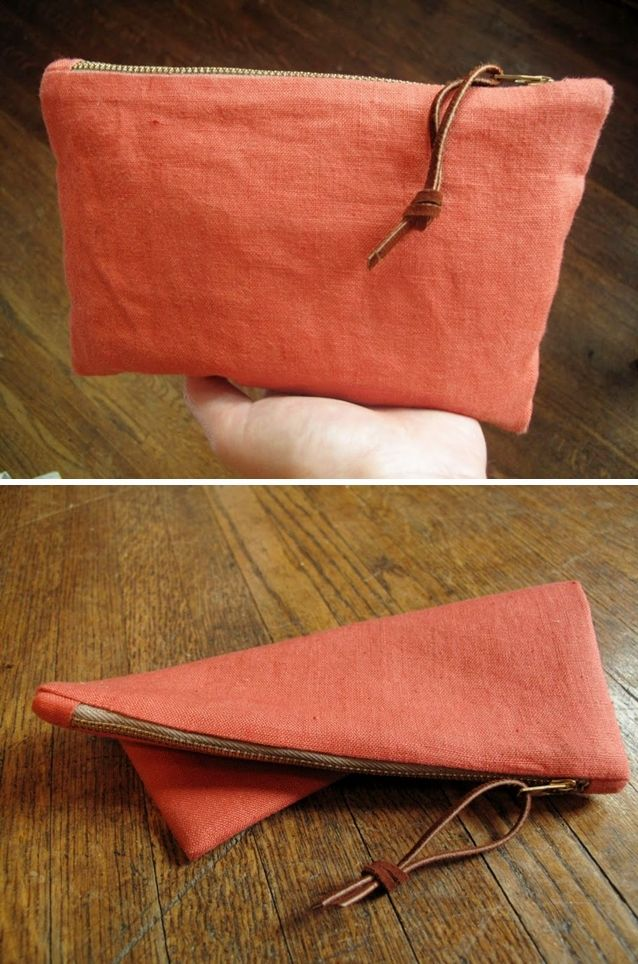 "DIY: small clutch. I carry HUGE ""mom bags"". You know the kind: ones you can smuggle small children with! So these bags are a must!"