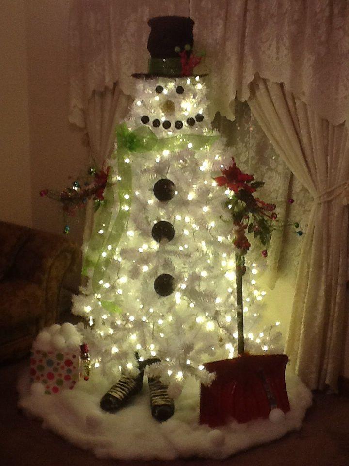 White Christmas Tree Snowman 2013!   Christmas   Pinterest ...