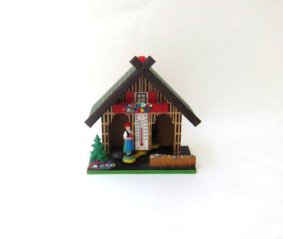 Vintage rustic wooden German alpine weather house by evaelena, $24.00