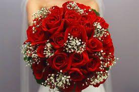 Resultado de imagem para buque de noiva vermelho com branco