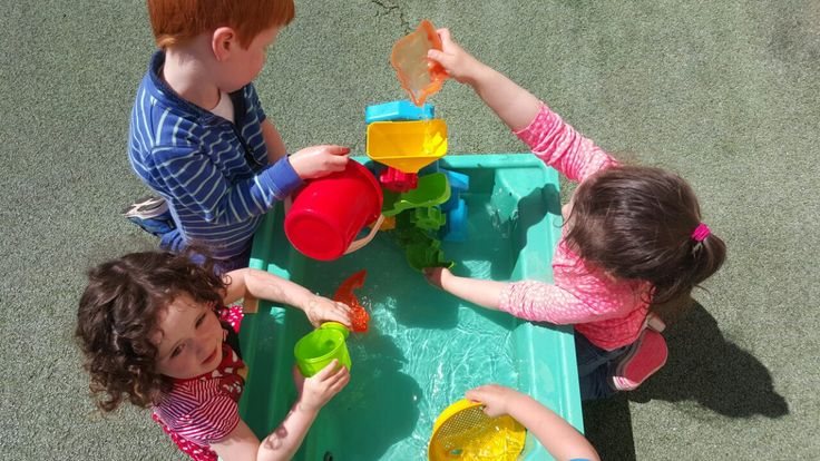 Water play is so much more fun in the sunshine! #waterplay #learningthroughfun #childcare