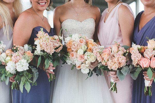 Lavender bridesmaid dresses | Stephanie Yonce Photography