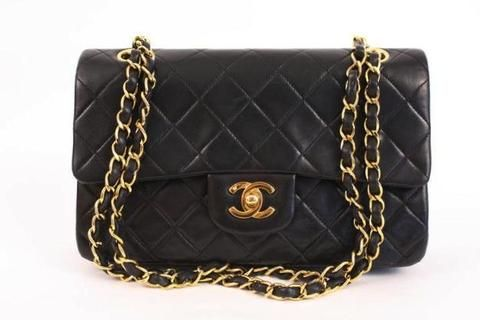 Rare Vintage CHANEL 9 inch Double Flap Bag at Rice and Beans Vintage ... a98c870d50b98