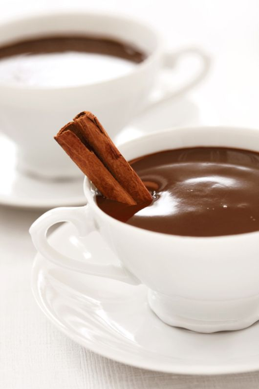 How to make Italian hot chocolate, which is more like a melted chocolate bar than a watery drink. Mmmm.