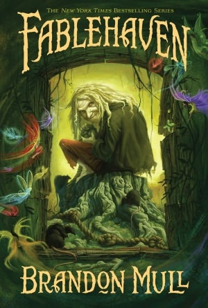 Fablehaven by Brandon Mull the first of several (maybe five?). This one was really good, but the books got worse with each one. You don't need to read them all, though, so even if you just read this one it's worth it. (I read it in fourth grade, for an age perspective.)