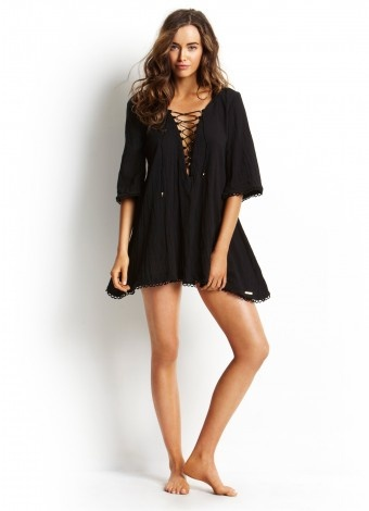 Salt and Pepper kaftan by Seafoly Swimwear at Pesca Trend ** 2012 Collection **.