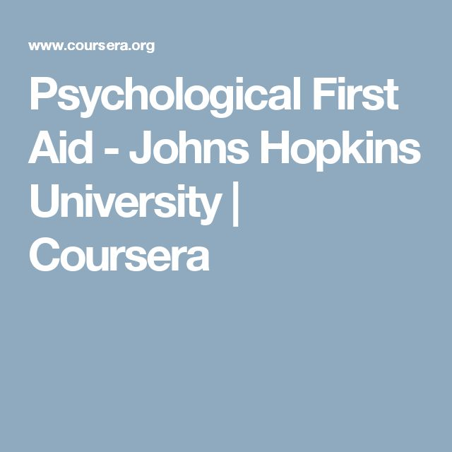 Psychological First Aid - Johns Hopkins University | Coursera
