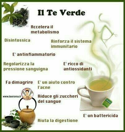 Tè verde e i suoi benefici...  Disintossicante, antiossidante, fa dimagrire, battericida, rinforza il sistema immunitario