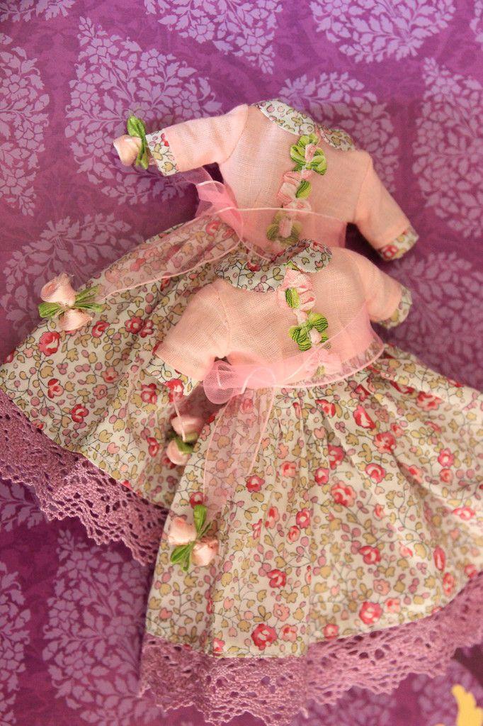 """Pullip Dress/Kleid """"Rosa Frühling - Pink Spring"""" ( Honey Dolls )  Kleidung - Hadesflamme - Merchandise - Onlineshop für alles was das (Fan) Herz begehrt!"""