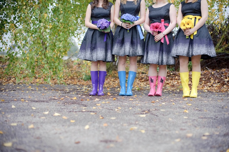Multi Coloured Wellies by O Photography