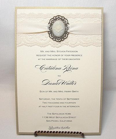 34 best wedding invitations images on pinterest lace wedding Wedding Invitation Maker In San Pedro Laguna cameo & lace wedding invitations wedding invitation maker in san pedro laguna