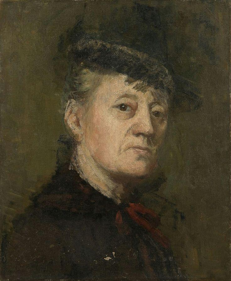 Kitty Kielland (Norwegian, 1843 - 1914):Self-Portrait
