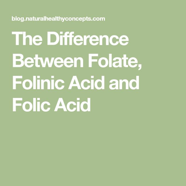 The Difference Between Folate, Folinic Acid and Folic Acid