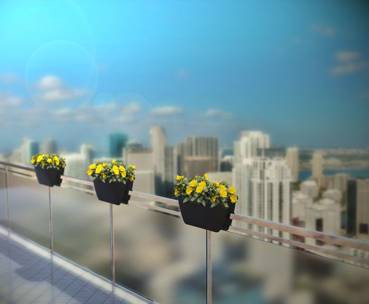 Balconia OVI - a balcony with a view. these planters can make your view even more colourful.