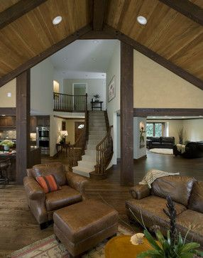 Pole Barn Design Ideas, Pictures, Remodel, and Decor - page 7--I absolutely love this! I would love to live in this beautiful home, what a blessing!
