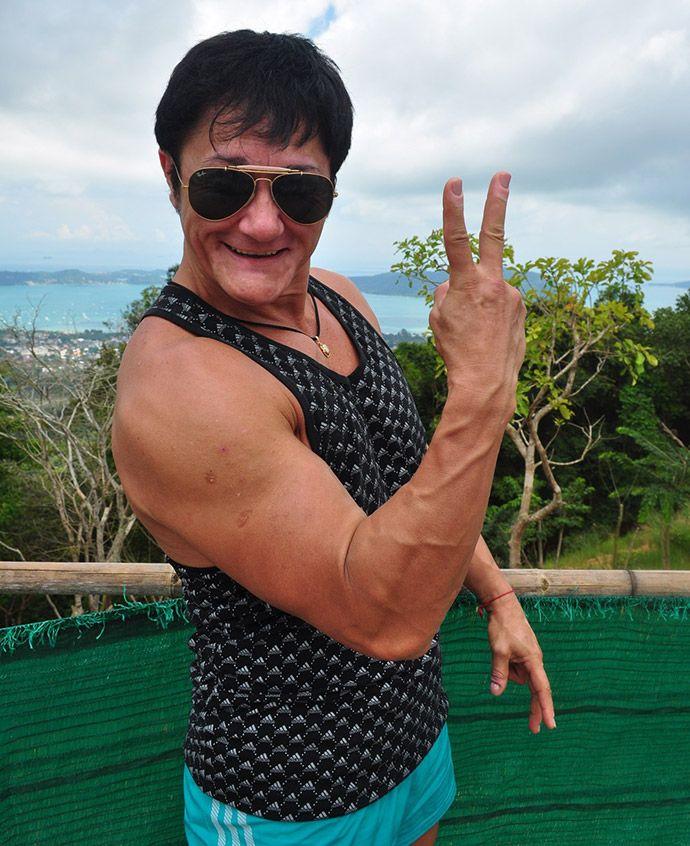 И это вовсе не мужчина, а самая сильная женщина Украины Анна Куркурина!