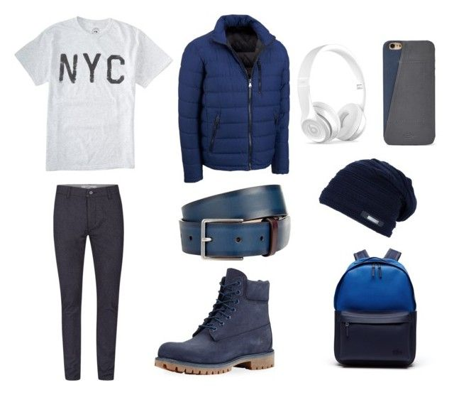 """""""Blue wilsonleather"""" by ricardo-rodriguez-hernandez on Polyvore featuring Wilsons Leather, Topman, Timberland, Paul Smith, Beats by Dr. Dre, FOSSIL, Lacoste, men's fashion y menswear"""