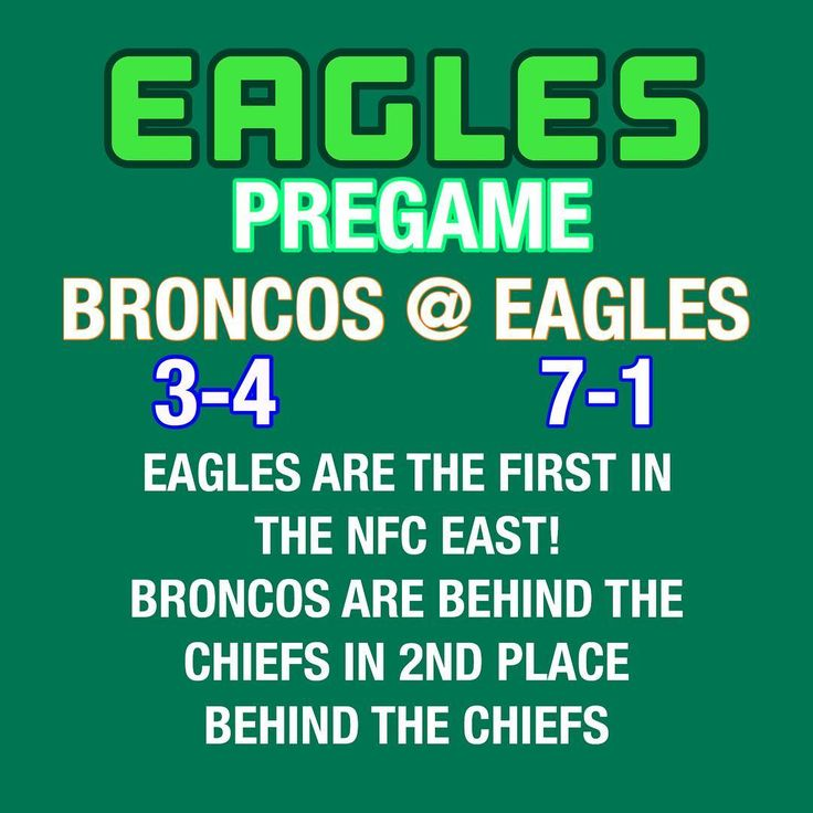 Game 9: Carson And The Birds Take On The Broncos! Game Takes Place At 1 PM EST! Something That Might Hurt Ten Birds Is Jason Peters Not Being Here! ==============================  S P A M  4  S P A M ?   TAG @cj_wentz11 5 TIMES FOR A SPAM BACK! ==============================   C H A N C E! W I N  A N  S/O   GUESS THE SCORE PREDICTION FOR THE BRONCOS VS EAGLES GAME FOR A S/O ==============================  I N J U R E D  L I S T  4  W E E K 9 (TOP 3 LOSES)  DAREN SPROLES  JASON PETERS  ZACK…