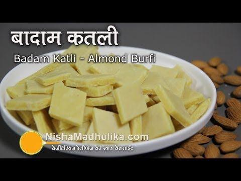 Badam Burfi Recipe | Diwali Special - Indian Sweet Recipe | Ruchi's Kitchen - YouTube