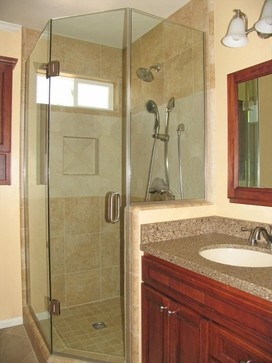 We love the contrasting colors and ample storage available in this bathroom. Fabulous work! - angela wellsmith