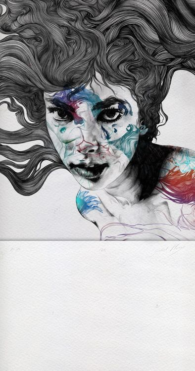 """gabrielmorenogallery.com →    Illustrator & Artist:    Gabriel Moreno    """"Iris""""    Etching + Digital    Iron: Plate Size: 52 cm x52 cm    Paper Size: 52 cm x 100 cm    Michel Archer Paper 240 grs.    Limited Edition of 50    Signed and Numbered by Hand    2012      http://gabrielmoreno.com/"""