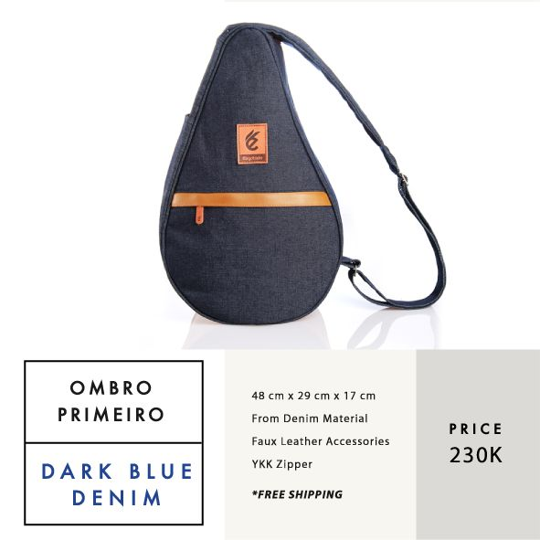 OMBRO PRIMEIRO DARK BLUE DENIM  IDR 230.000  FREE SHIPPING ALL OVER INDONESIA    Dimension: 48 cm x 29 cm x 17 cm 23 Litre   Material: High Quality Denim Faux Leather Accessories Leather Accessories YKK Zipper  #GoodChoiceforGoodLooking