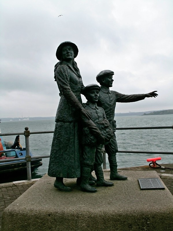Annie Moore.  The first immigrant to come through Ellis Island, New York. Cobh, County Cork, Ireland.