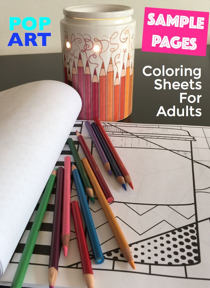 Download Your FREE Adult Coloring Sheets In A Unique Interactive POP ART Style Learn The