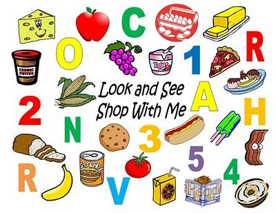 121 best grocery store images on Pinterest For kids, Play market - grocery words
