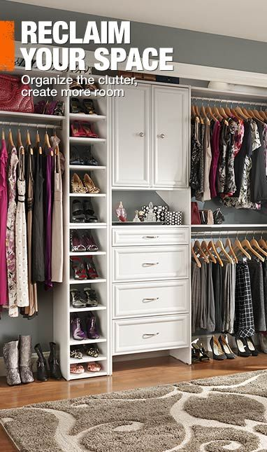 reclaim your bedroom closet space with a wood closet organizer from homedepot selectives - Home Depot Closet Design Tool