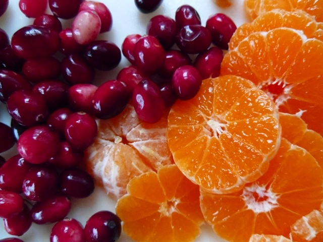 Cranberries and clementines