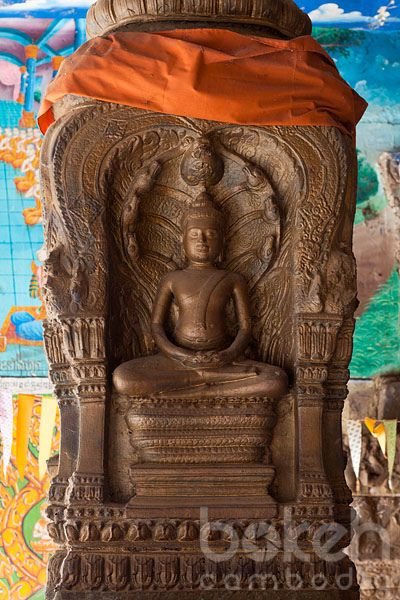 Khmer Naga buddha statue   Kampong Cham Province, Cambodia
