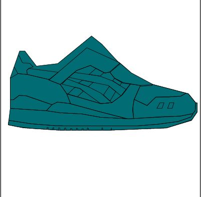 "First colour added to my illustration of Ronnie Fieg x Asics ""Miami"" #sneakers"