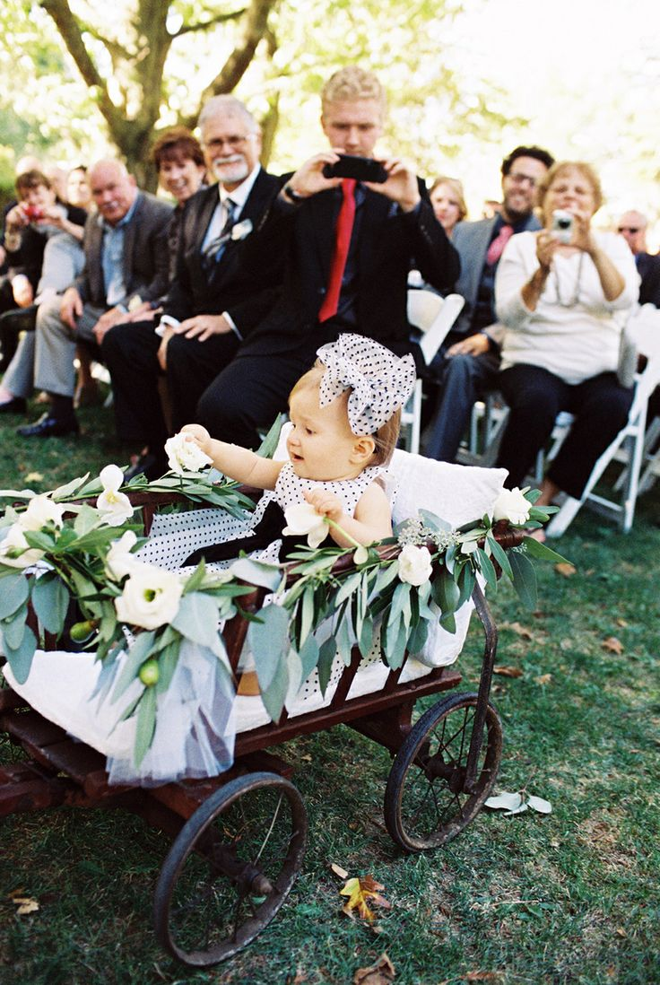 Wagon for flower girl with #Swarovskicrystals | Wagon for ... |Flower Girl Wagon Wedding Party