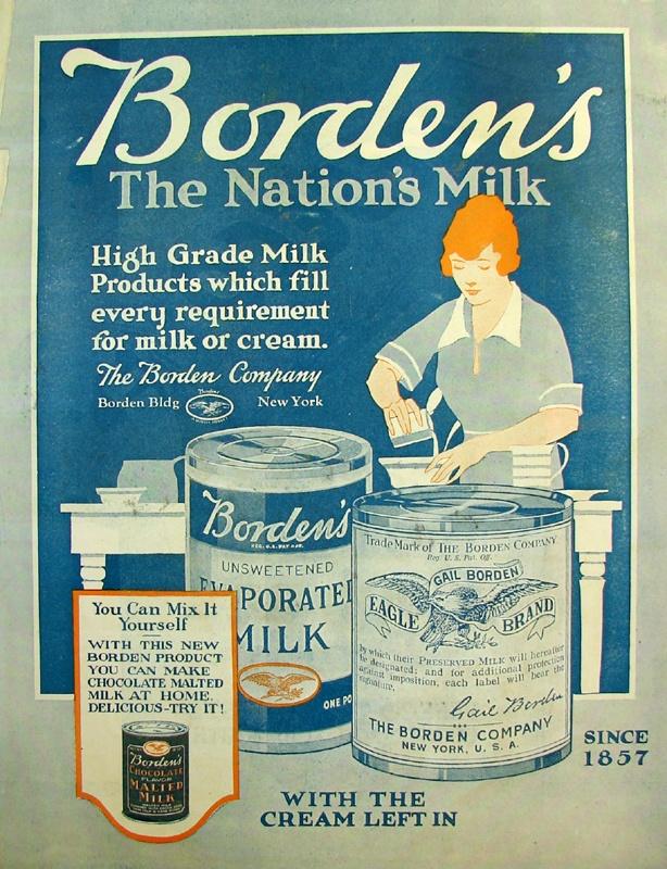 vintage Gordens milk ad