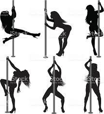 Download Image result for pole dance silhouettes vector # ...